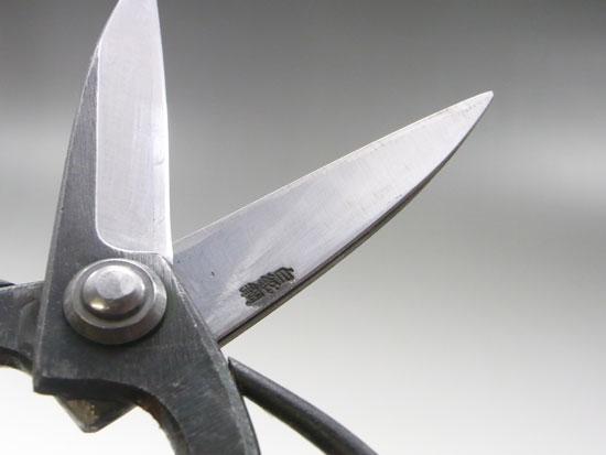 大久保鋏、植木鋏 手打ち 白紙 白鋼
