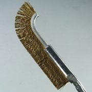 盆栽道具 幹掃除用  先反りブラシ 真鍮 No.156A
