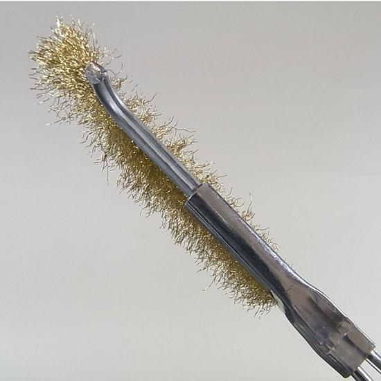 盆栽 幹掃除ブラシ 真鍮