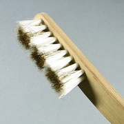 盆栽道具 幹掃除用 竹柄混毛ブラシ ビニール&真鍮 No.156F