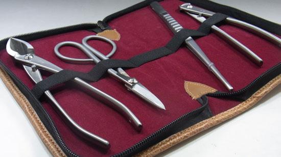 Stainless bonsai tool set Kaneshin made in Japan