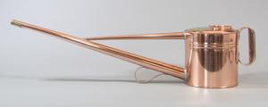 銅製 如雨露(ジョウロ) 竿長 2号(約1.8リットル) 約500g NO.182DK *取手付、鶴首(水差し用)付