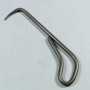盆栽道具 共柄根捌き(根掻き) 兼進作 1本爪 大 250mm 素材:鋼 NO.553