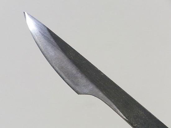 盆栽 ジン・シャリ作り彫刻刀 反り刃 左