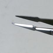 盆栽道具 ステンレス ピンセット ミニ矢型 全長125mm No.663A(26631)