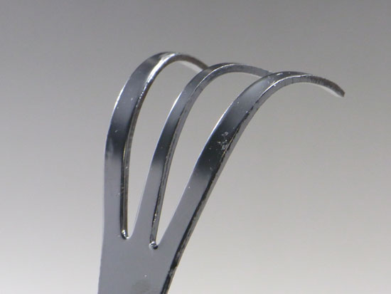 Stainless bonsai tweezers with rake , made in Japan , Kaneshin