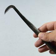 盆栽道具 神・舎利作り彫刻刀 (兼進作) 鎌型 右 No.87C