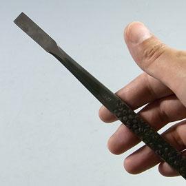 盆栽道具 神・舎利作り彫刻刀 (兼進作) 平型 No.87E
