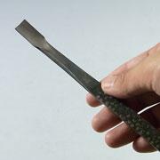 盆栽道具 神・舎利作り彫刻刀 (兼進作) 丸曲 No.87F