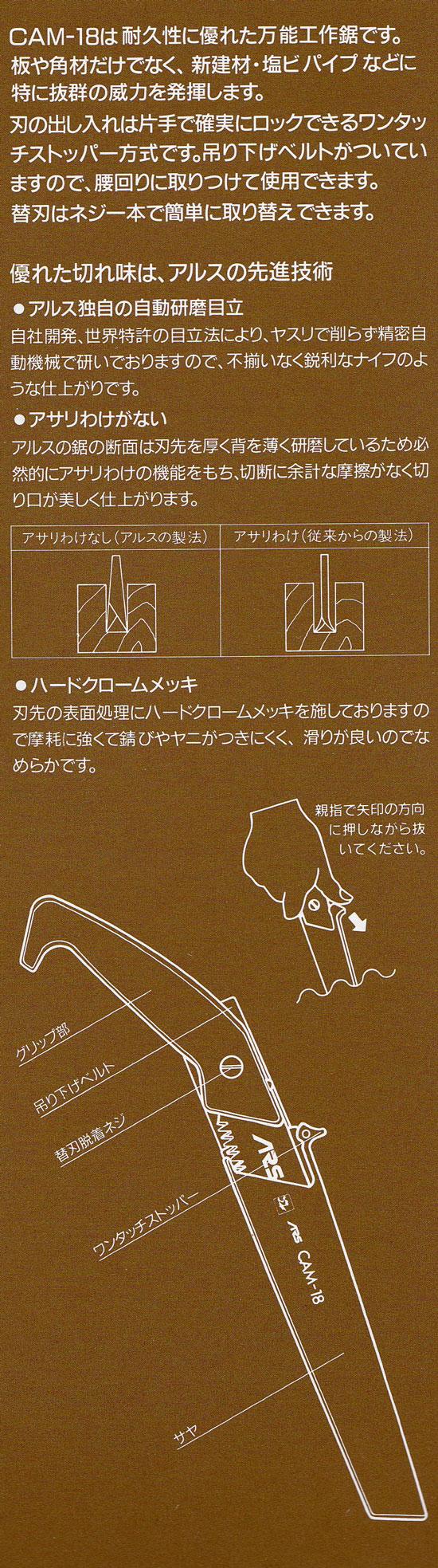 アルス ARS ピストル型工作鋸